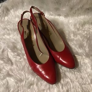 Salvatore Ferragamo Women's Red Sling Back Heels